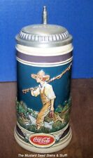 Coke Coca-Cola THE ANGLER Limited Edition Lidded Stein! Low #646!