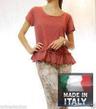 Short Sleeve Tunic Solid 100% Cotton Tops for Women