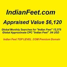 IndianFeet.com - Top Level Premium Domain - Indian Feet 12,375 Monthly Searches