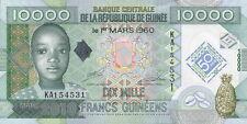 """Guinea 10.000 Francs 2010 Pick 45 """"50 Jahre Währung"""" (1)"""