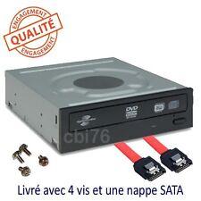 """Lecteur graveur DVD interne SATA 5,25"""" DVD-RW+/- lightscribe DL +nappe +vis"""