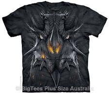 Black Dragon Face Plus Size T-Shirt - BigTees - Label U.S 4XL (Fits AUST 8XL)