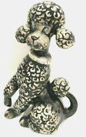 """1976 Vintage Ceramic Mold Poodle Gray Hobbyist Beloved Pet Dog Figurine 11"""" X 8"""""""