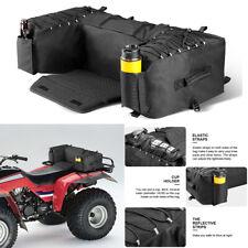 Atv Black Rear Racks /Seat Bag Saddle Bag Wrap-Around Waterproof Storage Bag Usa