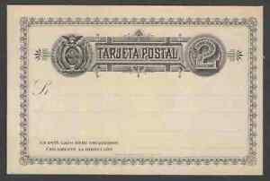 Ecuador 2c black postal card unused