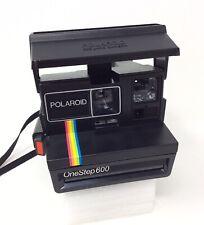 Vintage Polaroid One Step 600 Black Rainbow Instant Film Land Camera USA Tested!