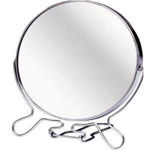 """4.5"""" ROUND COSMETIC MIRROR Small Travel Two Sided Folding Magnify Make Up Shave"""