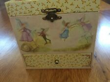 "Just In Case Music ""Enchantmints"" Fairy 4 Drawer Jewelry Wind Up Music Box"