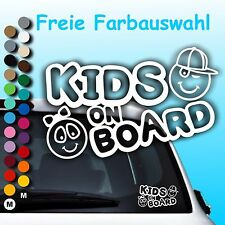 A014# Aufkleber Baby Kids on Board Kind an Bord Kinder in Auto Hangover Sticker