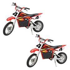 Razor MX500 Dirt Rocket 36V Electric Toy Motocross Dirt Bike, Red (2 Pack)
