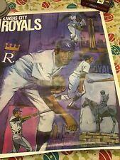 "Vintage Original 1971 Kansas City Royals Major League Baseball Poster. 23"" X 29"""