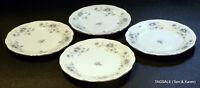 "4 pcs JOHANN HAVILAND china BLUE GARLAND pattern 4 Bread & Butter Plates ~6 1/4"""
