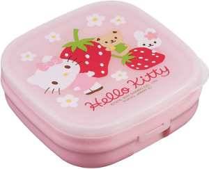 New Japan Sanrio Hello Kitty Snack Cup Container Storage Pink Food Holder Case