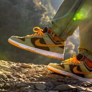 NIKE DUNK LOW SE DUSTY OLIVE PRO GOLD DH5360-300 US 9