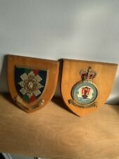 More details for 2 x vintage armorial crest plaques . the black watch. royal air force