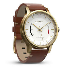 Garmin vivomove Premium Gold Tone & Leather Activity Step Watch 010-01597-21
