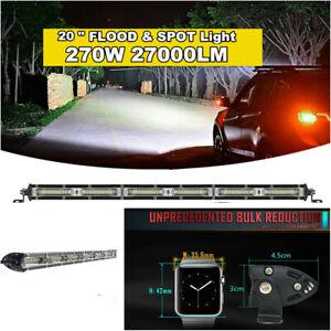 20 Inch 270W LED Work Light Bar Spot Flood Combo Beam Offroad Fog Driving Lights