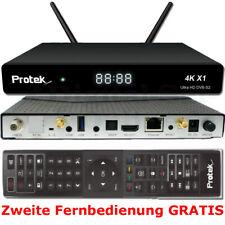 ► Protek X1 4K UHD 2160p DVB-S2 Linux E2 HDTV Receiver WLAN 2x FB GRATIS ⭐⭐⭐⭐⭐ ✅