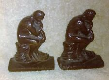 Pair of Cast Iron Thinking Man or The Thinker Book Ends
