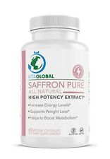 Saffron Pure Increase Energy Level Support Weight Loss VITAGLOBAL 60 Capsules