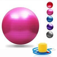 Yoga Exercise Ball 45/55/65/75/85/95cm with Quick Foot Pump  Anti Burst & Slip