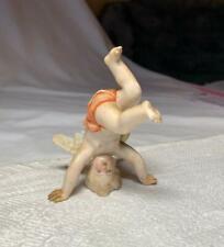 Antique Meissen Cherub Angel Cupid Tumbling 19thC German Porcelain