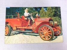 1911 American LaFrance Vintage Color Chrome Postcard Fire Engine Unposted