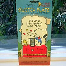 Vintage Peanuts SNOOPY & WOODSTOCK Magic Trick Light Switch Plate Cover~ NEW