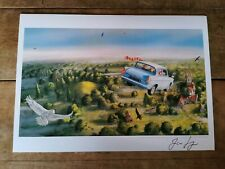 Harry Potter Print Flying Ford Anglia Harry Potter Signed Jim Kay. Chamber of