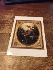 Postcard 1114-B Portrait of Mille Lange as Danae Anne-Louis Girodet de Roucy-Tri