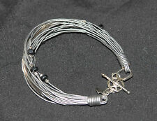 SILPADA - B2143 - Sterling Silver, Hematite, Glass and Leather Bracelet