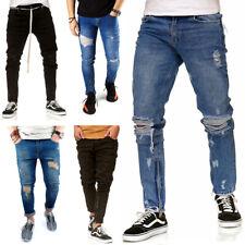 Nuevo vaqueros caballero slim fit Denim destroyed Jeans Hose desgarrado 1864 pantalones GR 29-38