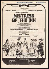 MISTRESS OF THE INN__La locandiera__Orig. 1980 Trade AD_poster_ADRIANO CELENTANO