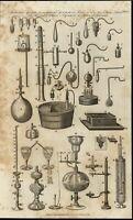 Pneumatic Apparatus Glass Scientific Components c.1798 antique engraved print