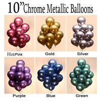 "20 PEARL LATEX METALLIC CHROME BALLOONS 10"" Helium Balloons Birthday Party UK"