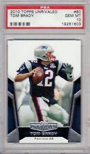 2010 Topps Unrivaled Football - Tom Brady - PSA 10! - #80 - PATRIOTS!