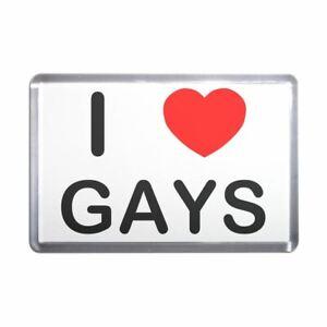 I love Gays Plastic Fridge Magnet - Decoration Fun BadgeBeast