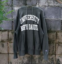 90s Champion Reverse Weave Hoodie University North Dakota Green Size XL