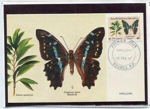 FAUNA_1832 1987 New Caledonia butterflies FDC Postal card