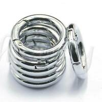 Lots 6pcs/set Mini Silver Circle Round Carabiner Spring Snap Clip Hook Keychain