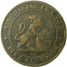 1870-OM  Spain  10 Centimos  Km# 663  A Very Nice Coin