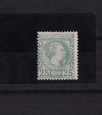 MONACO  prince Charles III   25c  vert   num:  6 **    signé et certificat