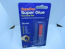 Super glue non drip gel ( Supadec ) Wood/ card/ china/ metals/ rubber/ leather/
