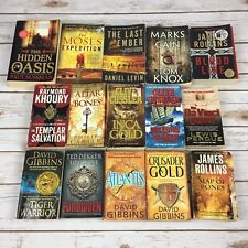 15 Adventure Novels Thriller Paperback Books Cussler Gibbins Rollins Others