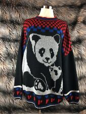 VINTAGE PANDA SWEATER FAIRY KEI KAWAII JOLIE SOFT ONE SIZE FAST SHIP UU