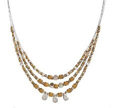 Silpada Sterling Silver Brass 3 Strand Ready to Mingle Necklace N3101 NEW