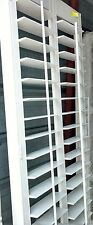 """INTERIOR SOLID WOOD PLANTATION SHUTTERS  WHITE_4.5"""" LOUVERS_ TWO PAIRS AVAILABLE"""