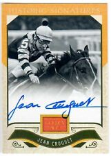 SEATTLE SLEW & JEAN CRUGUET - SIGNED BELMONT STAKES HORSE RACING SPORTS CARD!