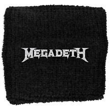 More details for official licensed - megadeth - logo sweatband/wristband thrash metal