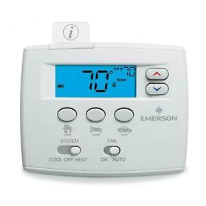 💧 Emerson Blue Easy Set Non-Programmable Thermostat, Heat Pump 1F86EZ-0251
